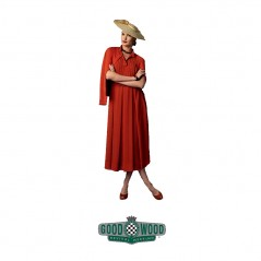 1950s pleated dress for Goodwood Revival