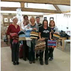 Weaving on a peg loom - 21st March 2016